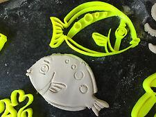 PESCE MEDIO Mare Animale Set Biscotti Fondente Cutter Cupcake Decorazione per Torta
