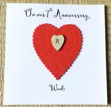 7th Wedding Anniversary Card Wool Anniversary Personalised Wife Husband
