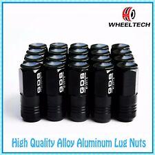 20 Black 50mm Close End Aluminum Wheel Lug Nuts M12x1.5 for Toyota Honda Ford