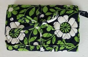 Vera Bradley Trifold Purse Cosmetic Bag LG 8x6 Tie Closesure Detachables Floral