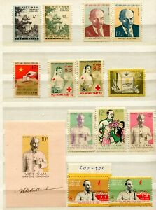 VE0607 NORTH VIET NAM Democratic Republic 1960 Lot of 8 complete sets, MNH, high