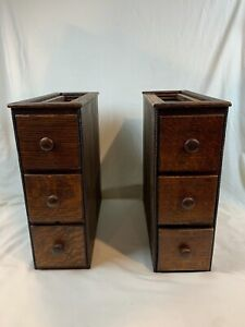 Vintage Left and Right Side SINGER SEWING MACHINE 3 DRAWERS set - 441