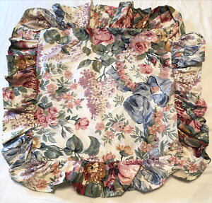 "Ralph Lauren Allison 16"" Square Throw Case Ruffle Floral No pillow insert incl"