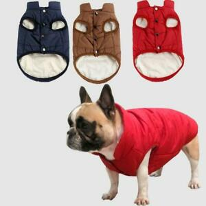 Winter Pet Dog Clothes Warm Buttons Sweater Coats Puppy Fleece Vest Jackets