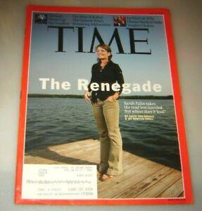 Time Magazine July 20, 2009 The Renegade: Sarah Palin