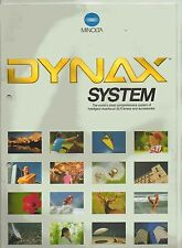 VINTAGE MINOLTA DYNAX SYSTEM CAMERA BROCHURE 1989 HOLE PUNCHED