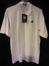 0b9cd7e64 Carolina Panthers Reebok Large Collared White Polo Shirt NWT NFL Newton  Stewart