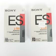 Lot of 2 Sony Dynamicron ES Beta L-750 Tapes Factory Sealed Blank Cassettes 222