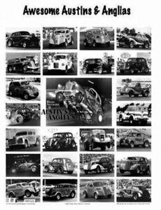 Drag Racing Poster  Austin & Anglia  Gassers GARAGE ART