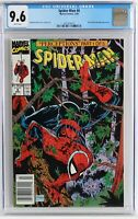 NEWSSTAND VARIANT Spider-Man #8 CGC 9.6 White Pages, 1990 McFarlane series