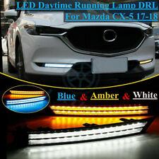 For Mazda CX-5 2017-2018 2x DRL 3 Colors Daytime Running Light LED Turn Signal j