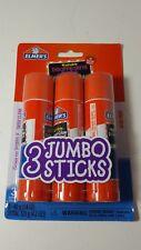 Elmer's Jumbo Glue Stick 3 Pk 1.4 oz (40g) each Washable Disappearing Purple