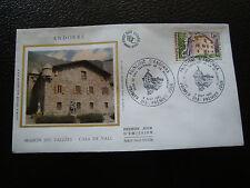 ANDORRE (francais) - enveloppe 1er jour 6/9/1980 (architecture) (cy63) andorra(E