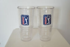 2 Tervis Tumblers 24 oz PGA Tour Logo Patch Insulated Hot Cold Cups Large