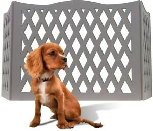 Wood Diamond Design Pet Safety Gate - Indoor / Outdoor Expandable Dog Fence