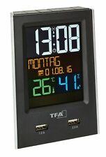 TFA 60.2537.01 Funk-Wecker mit USB-Ladefunktion CHARGE-IT