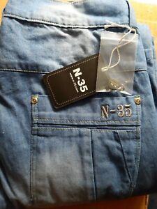 Jeans Light Blue Aramid verstärkt W 42 L 34 Motorrad Biker Hose Blau Regular Fit