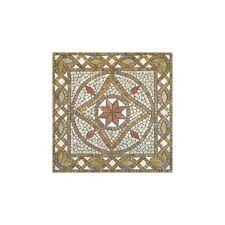 Rosoni rosone mosaico in marmo su rete per interni esterni 66x66 BETA NOCE
