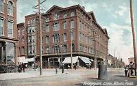 Atlantic Hotel, Bridgeport, Connecticut, Early Postcard, Unused