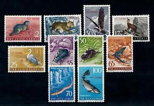 [71376] Yugoslavia Trieste Zone B 1954 Animals Insects Birds OVP STT VUJNA MLH