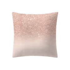 Rose Gold Pink Cushion Cover Square Pillowcase Home Decor Solid Style