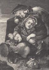 Shetland Sheepdog Sheltie Dog Scottish Children Antique Art Print 1898