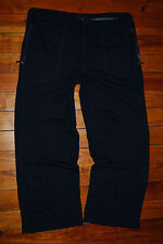 Men's Armani Collection Nylon / Modal Black Stretch Sweatpants (Small)