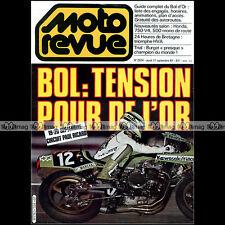 MOTO REVUE N°2524 BOL D'OR COUPE KAWASAKI 24 HEURES DE BRETAGNE DRAGSTER 1981