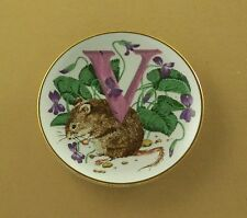 The Animal Alphabet Miniature Plate Collection V is for Vole Porcelain Mini
