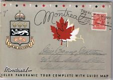 City Of Montreal Canada - Foldout Vintage Postcard Folder 20 Views + Guide Map