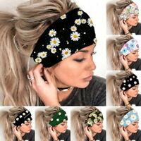 Damen Boho Haarbänder Druck Stirnband Turban Haarschmuck Multi Haarband Turban