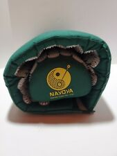 N2 Nayoya Back and Neck Pain Relief Acupressure Mat and Pillow Set Green