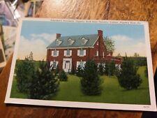 SLIPPERY ROCK PA State Teachers College Chapel Vintage B&W Blue Sky Postcard Old