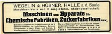 Wegelin & Hübner Hall A.D. Saale machines and apparatus ice-cream makers Tropical 1912