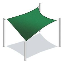 ALEKO Sun Sail Shade Net UV Block Fabric Patio Square 12x12 Ft Green
