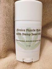 Arnica/Hemp Seed Oil- ALL Natural- Fibromyalgia, Arthritis, Neuropathy- Pain-Rub