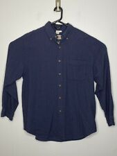 THE TERRITORY AHEAD Mens L Large Blue Textured Check Shirt Outdoors Camping