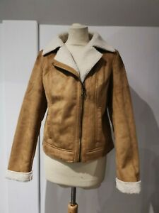 Bodyflirt Tan Faux Fur Lined Jacket - Size 12 - BNWT