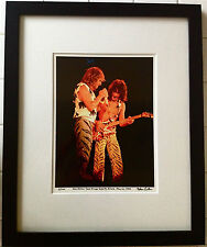 Van Halen live RARE fine art photo framed in 16x20 1984 signed # 9/100