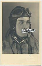 Portrait-LW Pilot-Flieger-Fliegerkopfhaube-Brille-Fliegeroverall-Tuch (u419)