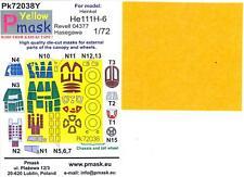 Model Maker 1/72 HEINKEL He-111H-6 Kabuki Tape Paint Mask Set Hasegawa/Revell