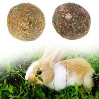 2pcs Pet Teeth Chew Grinding Natural Grass Ball Toys For Rabbit Hamster T8N2