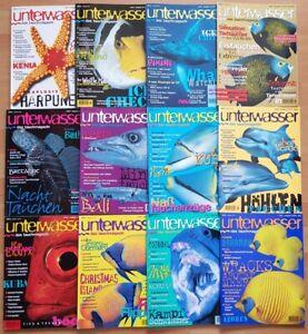 12x Unterwasser 1996 Jahrgang Zeitschrift Sport Meere Tiere Urlaub Tauchen