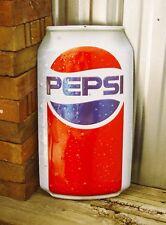 "Pepsi Can Embossed 18"" Metal Tin Sign Pop Cola New Ande Rooney Vintage Garage"