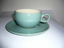 DENBY - MANOR GREEN - CUP AND SAUCER (LATER STYLE) - GOOD USED CONDITION*h
