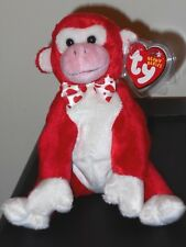 Ty Beanie Baby ~ VALENTINE the Monkey ~ MINT with MINT TAGS ~ RETIRED