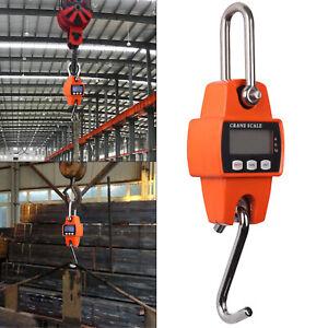 300kg/600lb Heavy Duty Digital Crane Scale Weighing Luggage with Mini Hook