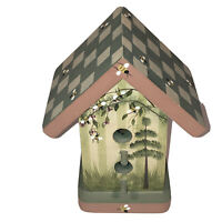 Vtg Mills River NC Handcrafted Birdhouse Collectible 1999 Preowned
