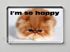 New, Quality Fridge Magnet, Cute, Funny Cat, Kitten  - I'M SO HAPPY
