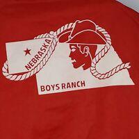 Vintage 80s Chalk Line Red Windbreaker XL Snaps Nebraska Boys Ranch Coat USA 70s